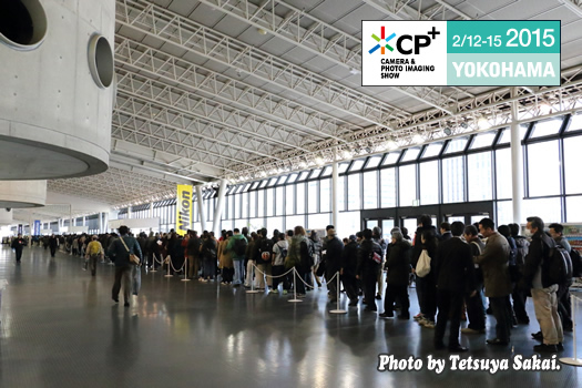 CP+2015長蛇の来場者