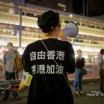 人間の鎖 香港の道:JR新宿東南口路上2020 8月23日